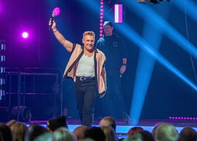 Gottfrid i sitt esse på Idolfinalen 2019 i Globen, där han kom fyra.