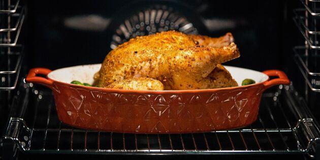 Saftigt helstekt kyckling i ugn