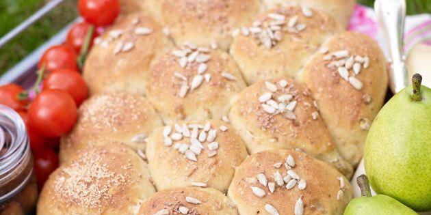 Matigt brytbröd med massor av frön
