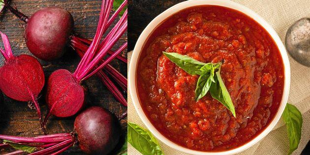 """Nomatsås – gör """"tomatsås"""" utan tomater"""