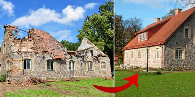 Linda och Thomas räddade ödehuset – se den fantastiska förvandlingen!