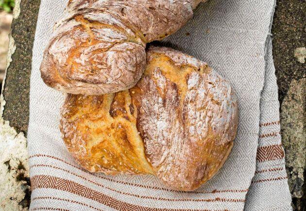 Låt jäsa över natten. Det ger brödet en extra härlig smak.