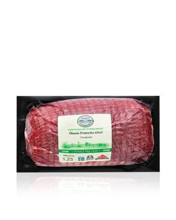 Köttet från Ölanda säteri märks med att det är speciellt utvalt av Coop. Priset ligger mellan det ekologiska och det ordinarie sortimentet.