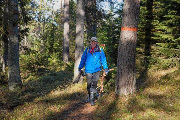 Peter Swärd kommer ursprungligen från Dalarna och jobbade i skogen redan som barn.