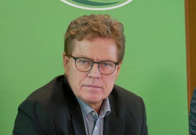 Peder Tuborg, vd för Arla, vid bolagets presentation av siffror ur årsbokslutet 2019 på Arlas huvudkontor utanför Aarhus i Danmark.