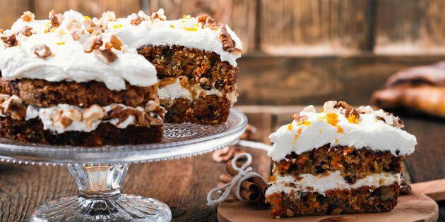 Godaste morotstårtan – med citronfrosting och kokos