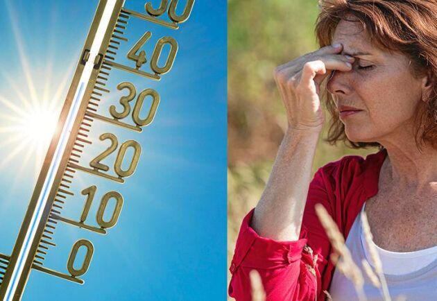 Höga temperaturer kan leda till värmeslag. Då behövs vård snabbt. Foto: Istock