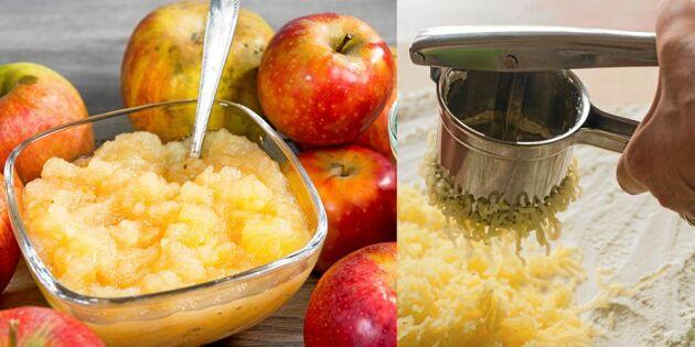 Supersnabb genväg till äppelmos – så smart!