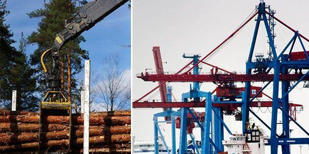 Så påverkar konflikten i hamnen skogsindustrin