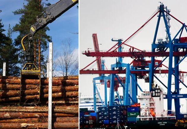 Hamnen i Göteborg är en av Sveriges största hamnar och är en av de hamnar som nu påverkas av strejken. Arkivbilder.