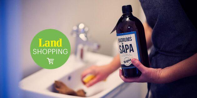 Så storstädar du badrummet med såpa
