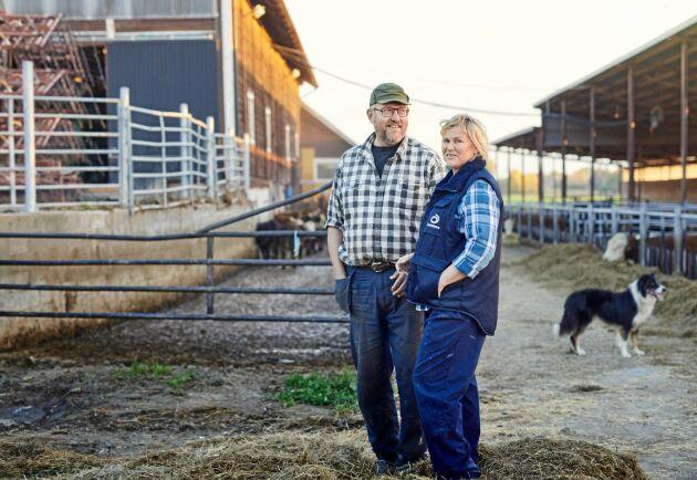 Lennart och Britta Andersson på gården Torp i Vånga håller på att förbereda sig inför generationsskiftet och planerade två stora auktioner. När coronapandemin bröt ut tvingades de tänka om.