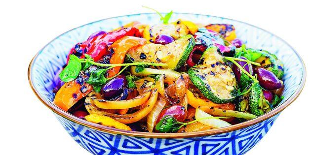 Marinerade grillade grönsaker
