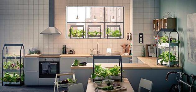 Och självklart är Ikea med i loppet, och visar olika sätt man kan odla hydroponiskt!