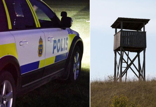 Bara i Växjöområdet har 50-100 jakttorn förstörts. Arkivbild