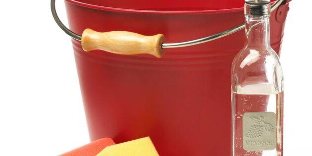 Städa badrummet med vinäger