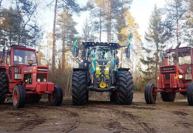 I år anordnar lantbrukseleverna på Ingelstadgymnasiet skolans första traktorkaravan någonsin.