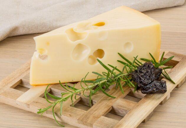 Ostsorten maasdamer ingår i en av de grupper som ökar mest.