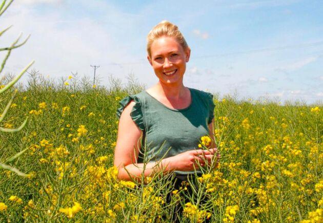 Anja Persson på Gunnarshögs gård berättar att juli har varit en fantastisk månad.