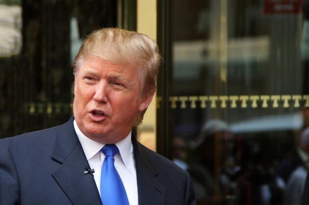 """""""Rätt bra fantasi, va? Det är mina idéer"""", säger Donald Trump om tanken att sätta solpaneler på den planerade muren mot Mexiko."""