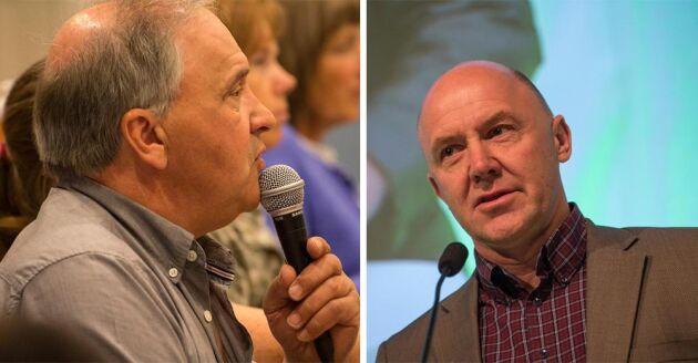 Bengt Halvarsson, LRF Dalarna och Sven-Erik Hammar från riksförbundsstyrelsen var två av de som var överens om att nyckelbiotopshanteringen gått för långt.