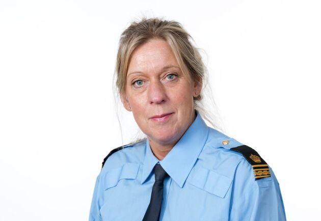 Lisa Sannervik, presstalesperson hos Polisen i Region Mitt.
