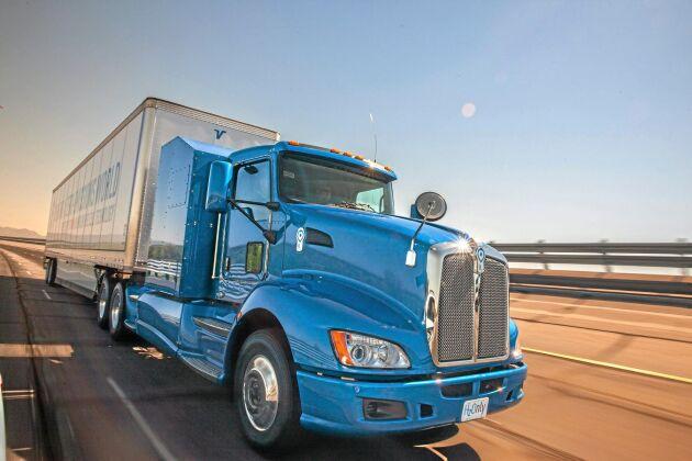 Toyota Fuel Cell Truck går en kortrutt på 32 mil i Los Angeles-trakten. Det är en rullande testanläggning och med tiden ska distanserna växa.