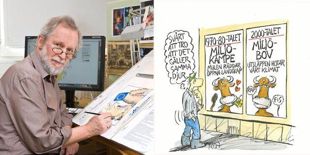 Land 50 år: Hans penna har illustrerat lantbrukets utveckling i 40 år