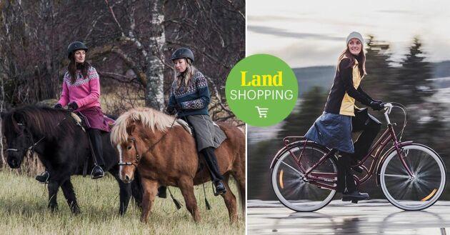 Ridtur, cykeltur eller kanske en skön promenad i naturen!? Bara fantasin sätter gränser för din täckkjol.
