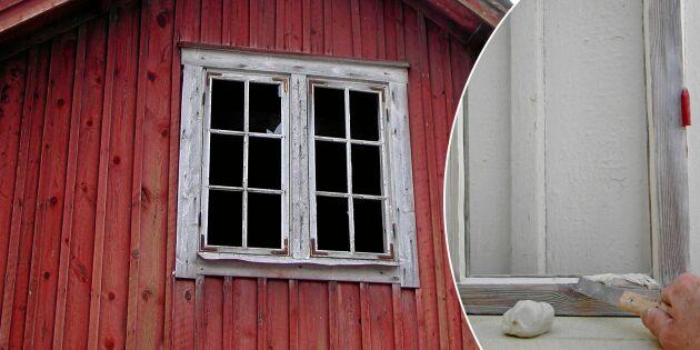 Steg för steg: Så renoveras ett gammalt fönster