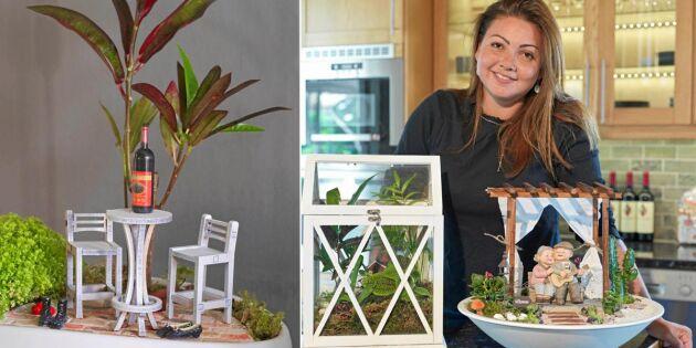 """Mariana bygger trädgårdar i miniatyr: """"Blev chockad av all positiv respons"""""""