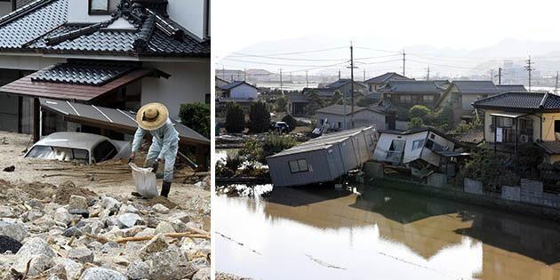 Japanskt jordbruk ödelagt