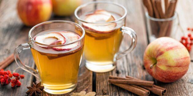 Kall äppelglögg med mousserande vin
