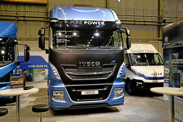 Ivecos hela tunga lastbilsprogram kan köras på gas. En tank räcker upp till 160 mil.