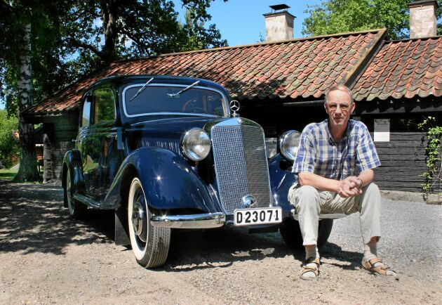 Det har tagit Roland Ivarsson 10 år att färdigställa sin fina bil, och resultatet är definitivt inget han behöver skämmas över.