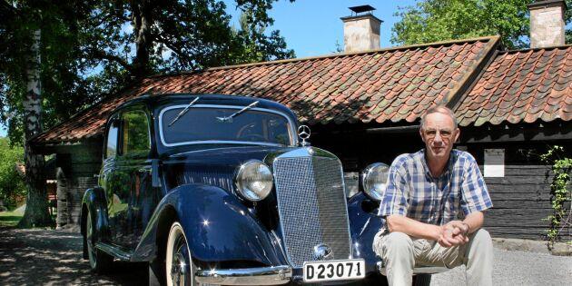 Roland förvandlade vraket till en kungligt vacker veteranbil