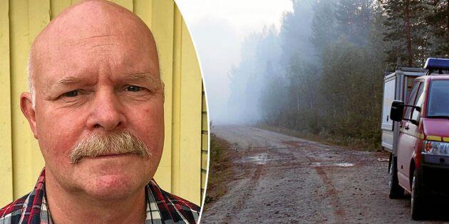 Håkan, 61, fick fly från branden – lämnade huset mitt i natten