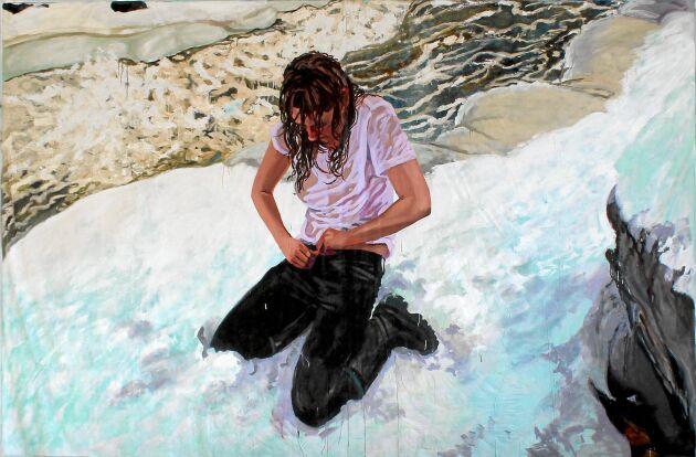 Sara-Vide använder ofta sig själv och sina egna erfarenheter av kyla, väta och naturen i sin konst.