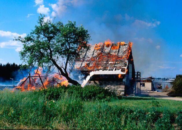 Brännbar isolering kan användas om byggnadstekniken anpassas.