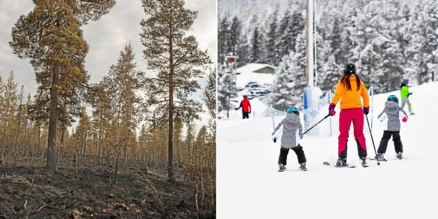 Sparad snö kan stoppa branden