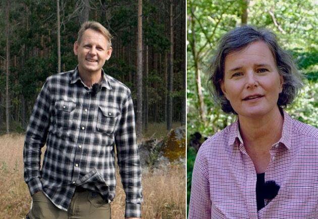 ATL:s reportrar Ulf Aronsson och Birgitta Sennerdal guidar genom kursen Klimatanpassat skogsbruk.