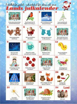 Klicka på bilden för att öppna och ladda ned Lands julkalender som pdf.