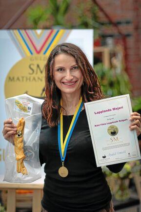 Vinst. Förra året tog Marika Niklassons Lapplands-sulguni hem en guldmedalj i SM i mathantverk.