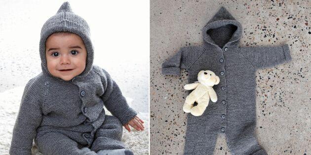 Julklappstips: Sticka fin och praktisk overall till babyn