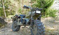 Provkörning av terrängmotorcykeln Rokon