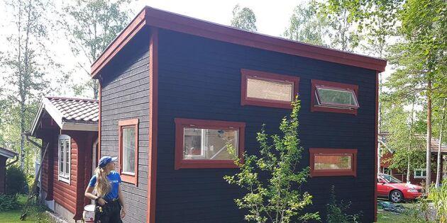 Lina, 19 tar bostadsbristen i egna händer – bygger minihus på hjul
