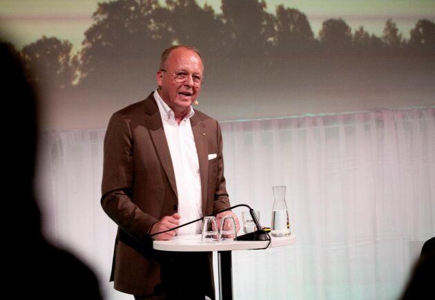Anders Källströms sista stämma. Han blev avtackad av Palle Borgström för sina tio år som VD och koncernchef för LRF.