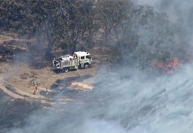 Bränderna nådde Adelaide Hills i december.