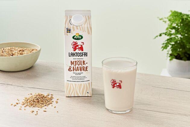 Redan nu finns den halvt havrebaserade mjölkdrycken i handeln.