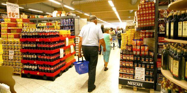 Försäljningen av dagligvaror ökade svagt